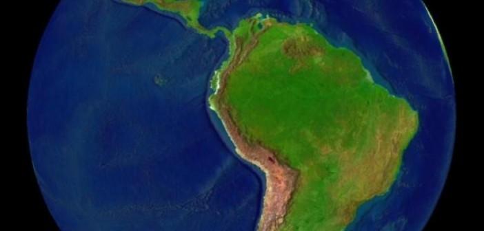 A América Latina vista do espaço em imagem de divulgação da Nasa/USA