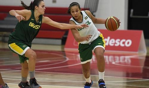 Treino Basquete Feminino - Treino da seleção feminina de basquete. - Canadá -  - Toronto - York University. FOTO:WILLIAM LUCAS/INOVAFOTO