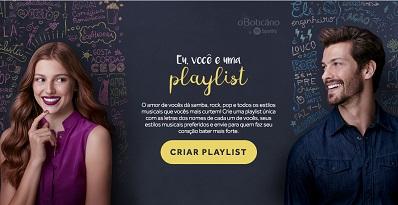 O Boticario e Spotify em ação inédita