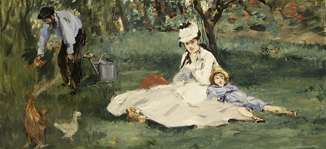 DETALHE DA OBRA The Monet Family in Their Garden at Argenteuil/ 1874/MONET