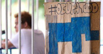 Brasília - Ocupação de estudantes no Centro de Ensino Médio Elefante Branco, em Brasília (Marcelo Camargo/Agência Brasil)