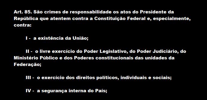 A CONSTITUIÇÃO DIZ TUDO. CUMPRA-SE.